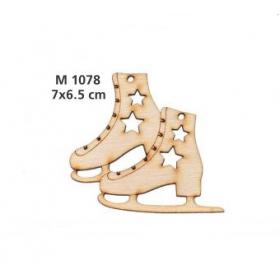 ΓΟΥΡΙ ΞΥΛΙΝΑ ΠΑΓΟΠΕΔΙΛΑ ΜΕ ΑΣΤΕΡΑΚΙΑ - ΚΩΔ:M1078-AD
