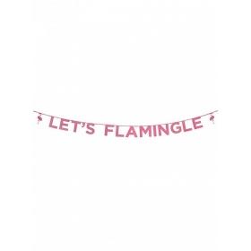 ΓΙΡΛΑΝΤΑ ΡΟΖ GLITTER ΦΛΑΜΙΝΓΚΟ 3Μ - ΚΩΔ:SAY-FLAMINGLE-JP