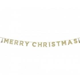 ΓΙΡΛΑΝΤΑ GLITTER MERRY CHRISTMAS 3Μ - ΚΩΔ:SAY-MERRY-JP