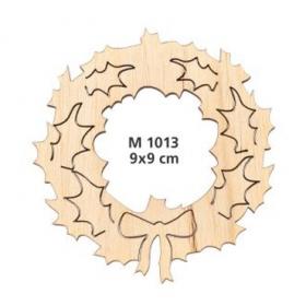 ΓΟΥΡΙ ΞΥΛΙΝΟ ΧΡΙΣΤΟΥΓΕΝΝΙΑΤΙΚΟ ΣΤΕΦΑΝΙ ΜΕ ΓΚΙ 9 ΕΚΑΤ. - ΚΩΔ:M1013-AD
