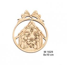 ΓΟΥΡΙ ΞΥΛΙΝΗ ΧΡΙΣΤΟΥΓΕΝΝΙΑΤΙΚΗ ΜΠΑΛΑ ΜΕ ΦΑΤΝΗ 10 ΕΚΑΤ. - ΚΩΔ:M1029-AD