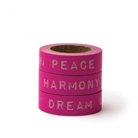 WASHI TAPE PEACE DREAM HARMONY -15MMΧ10M - ΚΩΔ:102733-GN