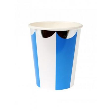 Ποτήρι Ριγέ Μπλε - ΚΩΔ:157087-JP