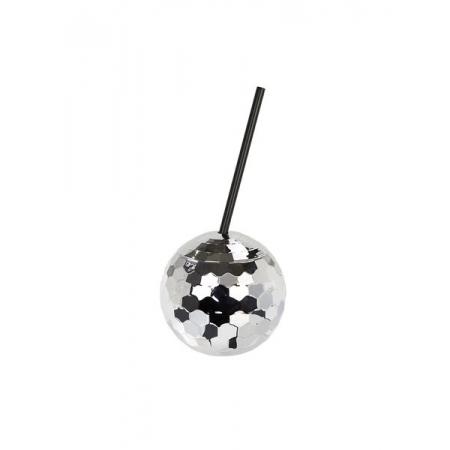 Tables Ποτήρι με Καλαμάκι Disco Ball - ΚΩΔ:GLIT-CUP-DISCO-JP