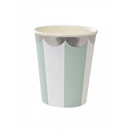 Ποτήρι χάρτινο TS Blue Stripe - ΚΩΔ:124255-JP