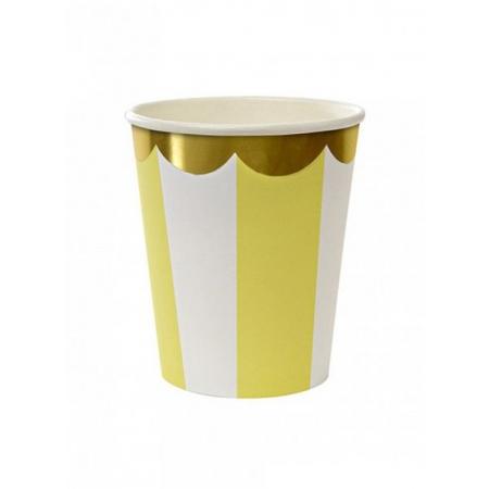 Ποτήρι χάρτινο TS Yellow - ΚΩΔ:125245-JP