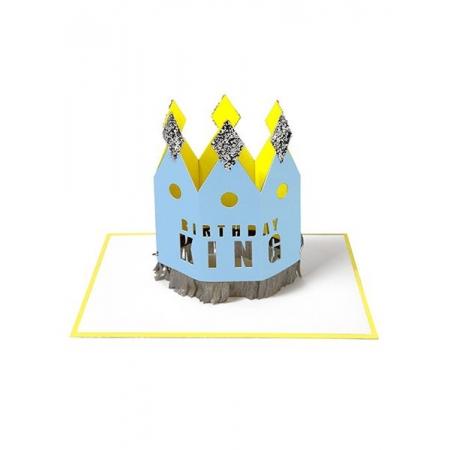 Birthday King Ευχετήρια Κάρτα - ΚΩΔ:144019-JP
