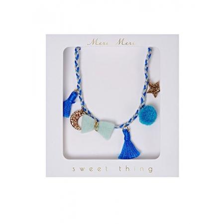 Blue Plaited Κολιέ - ΚΩΔ:146305-JP