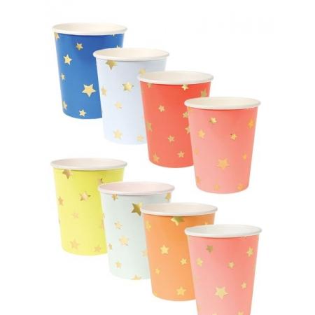 Ποτήρια Αστέρια διάφορα χρώματα - ΚΩΔ:156340-JP