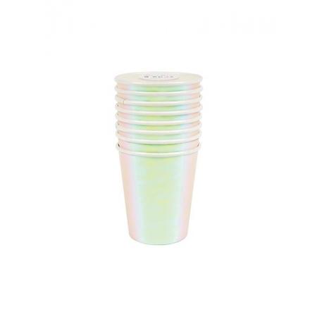 Ποτήρια Λευκά Ιριδίζοντα - ΚΩΔ:156268-JP