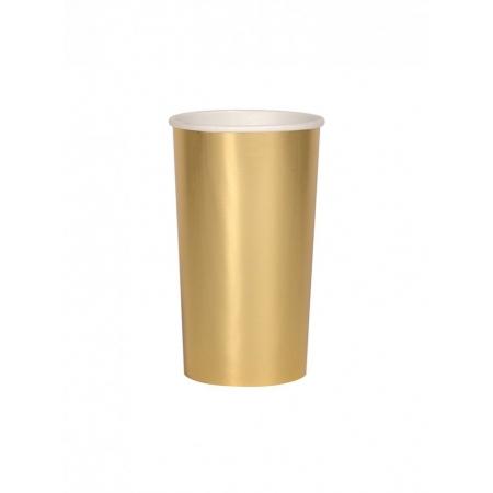Χάρτινο Ποτήρι Ψηλό (Coctail) Χρυσό 400ml - ΚΩΔ:181675-JP