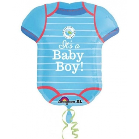 ΜΠΑΛΟΝΙ FOIL 55x60cm ΓΙΑ ΓΕΝΝΗΣΗ SUPERSHAPE «It's a Baby Boy» ΦΟΡΜΑΚΙ – ΚΩΔ.:530912-BB