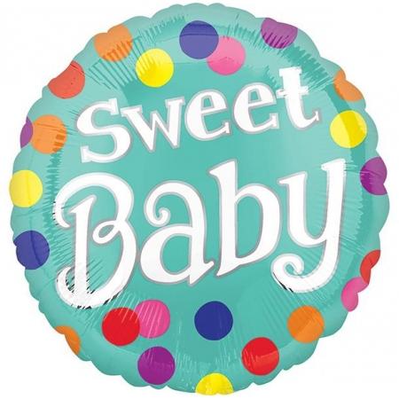 ΜΠΑΛΟΝΙ FOIL 45cm ΓΙΑ ΓΕΝΝΗΣΗ «Sweet Baby» ΠΟΥΑ  – ΚΩΔ.:535200-BB
