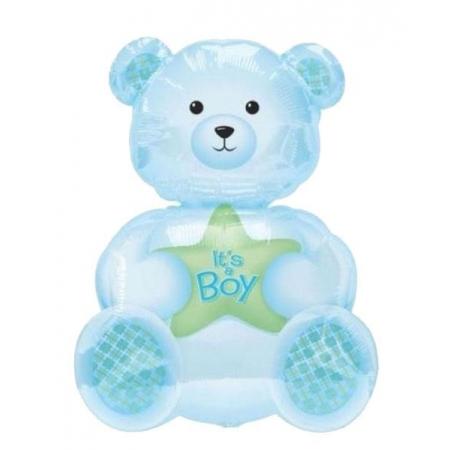 ΜΠΑΛΟΝΙ FOIL 65cm ΓΙΑ ΓΕΝΝΗΣΗ SUPERSHAPE «It's a Boy» ΑΡΚΟΥΔΑΚΙ– ΚΩΔ.:206283-BB