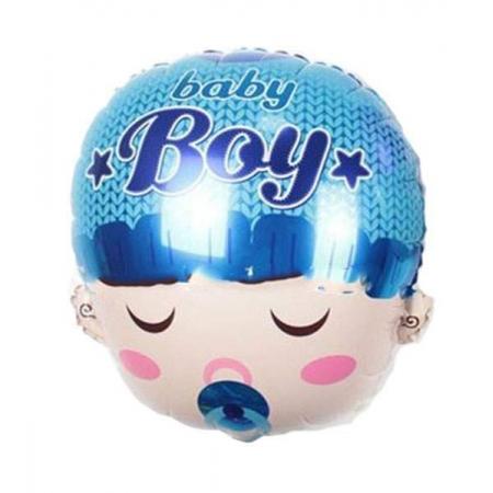 ΜΠΑΛΟΝΙ FOIL 48cm ΓΙΑ ΓΕΝΝΗΣΗ SUPERSHAPE «Baby Boy» ΜΩΡΟ ΜΕ ΠΙΠΙΛΑ – ΚΩΔ.:206286-BB