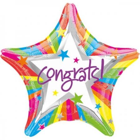 ΜΠΑΛΟΝΙ ΑΣΤΕΡΙ FOIL 45cm ΓΙΑ ΑΠΟΦΟΙΤΗΣΗ Congrats – ΚΩΔ.:509896-BB