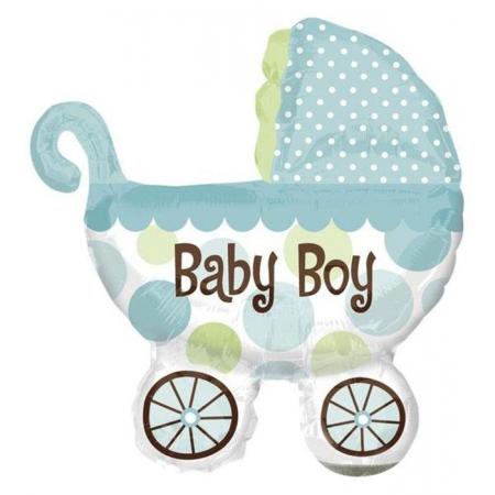 ΜΠΑΛΟΝΙ FOIL 78x71cm ΓΙΑ ΓΕΝΝΗΣΗ SUPERSHAPE «Baby Boy» ΚΑΡΟΤΣΑΚΙ – ΚΩΔ.:517952-BB