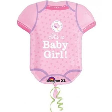ΜΠΑΛΟΝΙ FOIL 55x61cm ΓΙΑ ΓΕΝΝΗΣΗ SUPERSHAPE «Baby Girl» ΡΟΖ ΦΟΡΜΑΚΙ – ΚΩΔ.:530911-BB