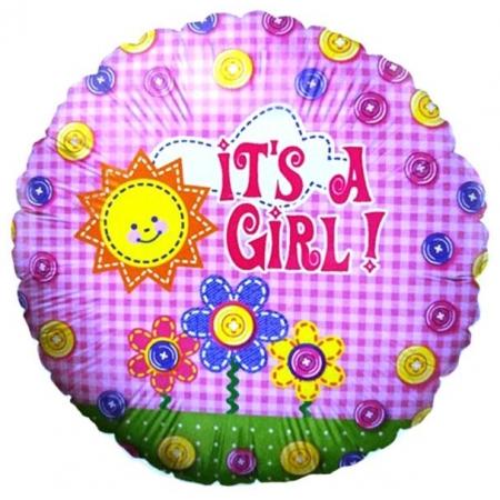 ΜΠΑΛΟΝΙ FOIL 45cm ΓΙΑ ΓΕΝΝΗΣΗ «It's a Girl» ΜΕ ΗΛΙΟ ΚΑΙ ΖΩΑΚΙΑ – ΚΩΔ.:86191-BB