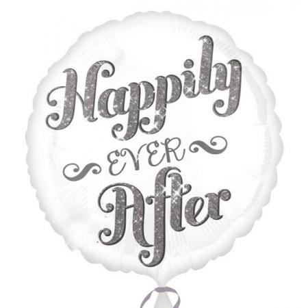 ΜΠΑΛΟΝΙ FOIL 45cm ΙΡΙΔΙΖΟΝ «Happily Ever After»- ΚΩΔ.:528732-BB