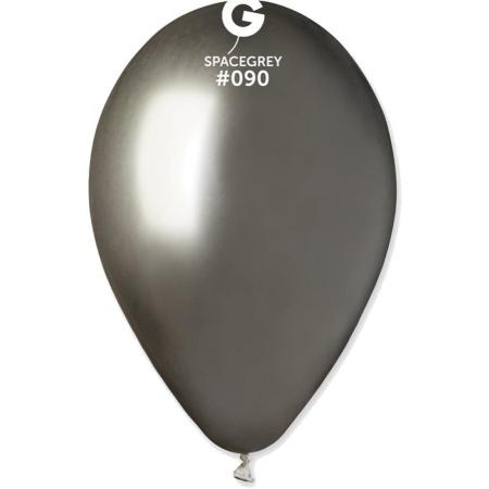 SHINY SPACE GREY ΜΠΑΛΟΝΙΑ 12΄΄ (32cm)  LATEX – ΚΩΔ.:13612090-BB