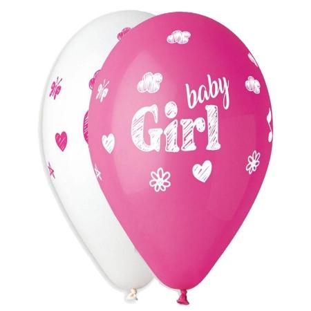 """ΤΥΠΩΜΕΝΑ ΜΠΑΛΟΝΙΑ LATEX BABY GIRL ΦΟΥΞ-ΑΣΠΡO 13"""" (33cm) – ΚΩΔ.:13613303-BB"""