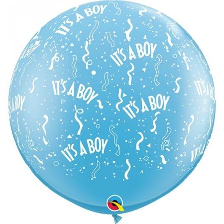«It's a Boy» ΜΕ ΚΟΝΦΕΤΙ ΜΠΑΛΟΝΙ 36'' (90cm) LATEX – ΚΩΔ.:29167-BB