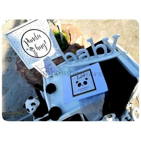 ΣΤΟΛΙΣΜΟΣ ΒΑΠΤΙΣΗΣ ΖΩΑΚΙ PANDA ΣΕ ΑΣΠΡΟ ΚΑΙ ΜΑΥΡΟ - ΑΓ. ΑΘΑΝΑΣΙΟΣ - ΠΑΛΑΙΟΚΑΣΤΡΟ - ΚΩΔ:PANDA-0809