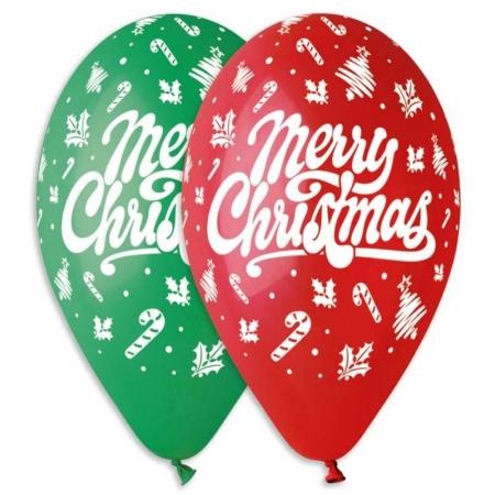 """ΤΥΠΩΜΕΝΑ ΜΠΑΛΟΝΙΑ LATEX «MERRY CHRISTMAS» 13"""" (33cm) – ΚΩΔ.:13613112-BB"""