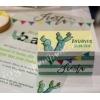 Μπομπονιερα Βαφτισης Εκτυπωμενο Κουτακι Fiesta Κακτακια - ΚΩΔ:Mpo-7429