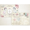 Προσκλητηριο Γαμοβαπτισης Post Card - ΚΩΔ:Vb176-Th
