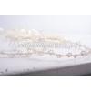 Στεφανα Γαμου Χειροποιητα Με Τεχνικη Μακραμε Και Περλες - Εκρου - Λευκο - Σετ - ΚΩΔ:Ft02-123