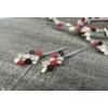 Στεφανα Γαμου Με Πορσελανινα Λουλουδακια Σε Λευκο-Μαυρο-Κοκκινο - Σετ 2 Τμχ - ΚΩΔ:198-01