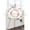 Καμβας Γαμου Λουλουδια Και Ημερομηνια - ΚΩΔ:5531124-1-Bb