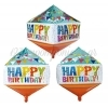 """ΜΠΑΛΟΝΙ FOIL 15""""(38cm) HAPPY BIRTHDAY CUBEZ - ΚΩΔ:206375-BB"""