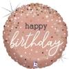 ΜΠΑΛΟΝΙ FOIL 18''(45cm) ROSEGOLD BIRTHDAY GLITTER - ΚΩΔ:36985GH-BB