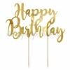 TOPPER ΤΟΥΡΤΑΣ HAPPY BIRTHDAY ΧΡΥΣΟ 22.5cm - ΚΩΔ:KPT11-019M-BB