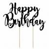 TOPPER ΤΟΥΡΤΑΣ HAPPY BIRTHDAY ΜΑΥΡΟ 22.5cm - ΚΩΔ:KPT11-010-BB