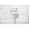 TOPPER ΤΟΥΡΤΑΣ HAPPY BIRTHDAY ΑΣΗΜΙ 22.5cm - ΚΩΔ:KPT11-018M-BB