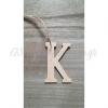 ΞΥΛΙΝΟ ΚΡΕΜΑΣΤΟ ΓΡΑΜΜΑ Κ 9cm - ΚΩΔ:GRAMMA-K-RN