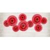 Σετ Κοκκινες Χαρτινες Βενταλιες - ΚΩΔ:Rpb1-007-Bb