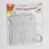 ΓΙΡΛΑΝΤΑ-BANNER HAPPY BIRTHDAY ΣΕ ΧΡΥΣΟ ΚΑΙ ΑΣΗΜΙ - ΚΩΔ:NK422-NU