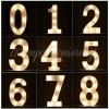 Αριθμος 5 Με Led Φως 21.5X13Cm - ΚΩΔ:535B9095-Bb