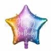 ΜΠΑΛΟΝΙ FOIL 16''(40cm) HAPPY BIRTHDAY RAINBOW ΑΣΤΕΡΙ - ΚΩΔ:FB93-000-BB