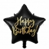 ΜΠΑΛΟΝΙ FOIL 16''(40cm) HAPPY BIRTHDAY ΜΑΥΡΟ ΑΣΤΕΡΙ - ΚΩΔ:FB93-010-BB