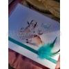 Μπομπονιέρα Βάφτισης Mini με μονό τούλι και καρτελάκι με εκτύπωση ελαφάκι - dear - ΚΩΔ:MPO-0310