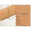 Χριστουγεννιατικα Προσκλητηρια Γαμου Vintage Τριπτυχο Κραφτ - ΚΩΔ: Mf103-Kraft-Th