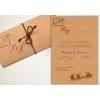 Χριστουγεννιατικα Προσκλητηρια Γαμου Vintage Τριπτυχο Κραφτ - ΚΩΔ: Mf102-Kraft-Th