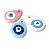 Κεραμικό Μοτίφ Σταγόνα Μάτι με Σμάλτο 32x24mm (Ø3.5mm) - ΚΩΔ:A1323-NG