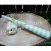 Μπομπονιέρα Βάπτισης Βαβουζέλες σε 3 σχέδια - Μέντα - Κωδ:MPO-04997